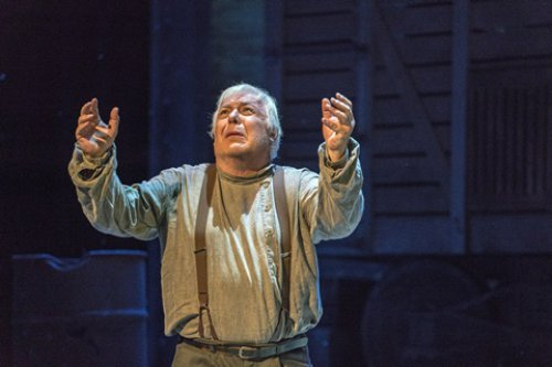 "Stefan Szkafarowsky as he sang the Cavatina in a scene from the New York City Opera's production of ""Aleko"" (Photo credit: Sarah Shatz/New York City Opera)"