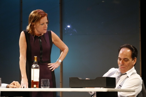 """Lesley McBurney and Vince Bandille in a scene from """"What We're Up Against""""(Photo credit: Jimmy Mendez /mendezphotostudio.com)"""