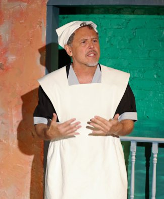 "David Dempsey in a scene from José Rivera's ""The Maids"" (Photo credit: Carol Rosegg)"