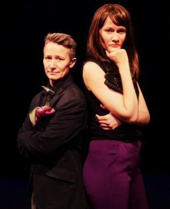 "Drae Campbell and Emily Davis in a scene from ""My Old Man (and Other Stories)"" (Photo credit: Peter Yesley)"