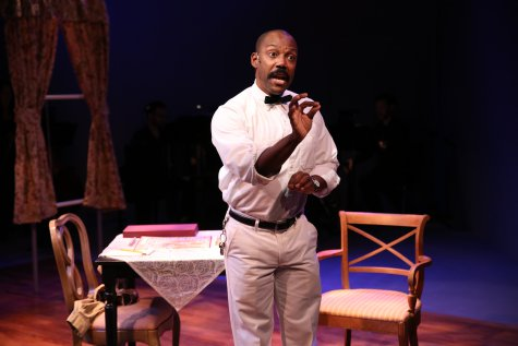 "T. Oliver Reid in a scene from ""Just One 'Q,' "" part of Premieres' ""Inner Voices"" (Photo credit: Carol Rosegg)"