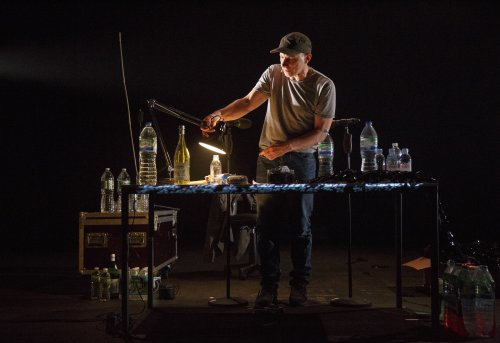 """Simon McBurney in a scene from """"The Encounter"""" (Photo credit: Joan Marcus)"""