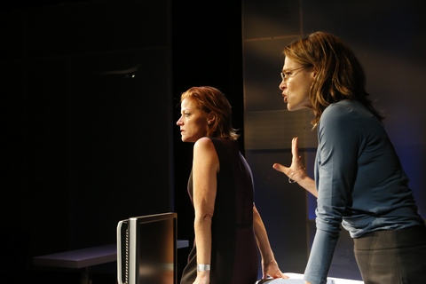 "Lesley McBurney and Cherie Mendez in a scene from ""What We're Up Against"" (Photo credit: Jimmy Mendez/mendezphotostudio.com)"