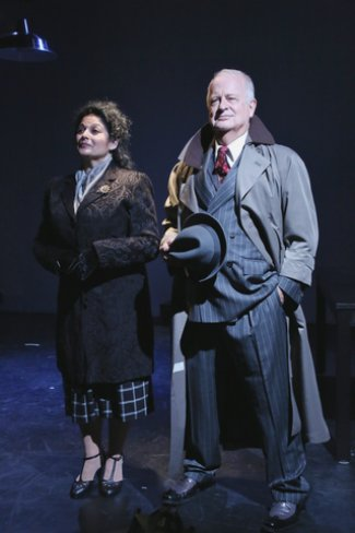 """Elise Stone and Craig Smith in as scene from """"The Resistible Rise of Arturo Ui"""" (Photo credit: Gerry Goodstein)"""