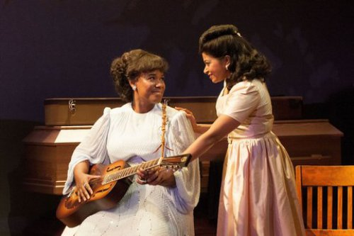 "Kecia Lewis and Rebecca Naomi Jones in a scene from ""Marie and Rosetta"" (Photo credit: Ahron R. Foster)"