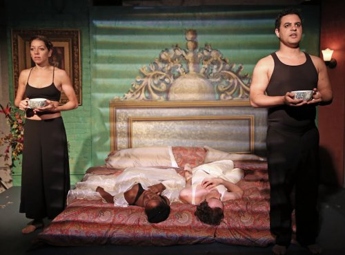 "Laura Butler Rivera, Folani Williams, Charlie Munn and Casey Robinson in a scene from Jose Rivera's ""The Maids"" (Photo credit: Carol Rosegg)"