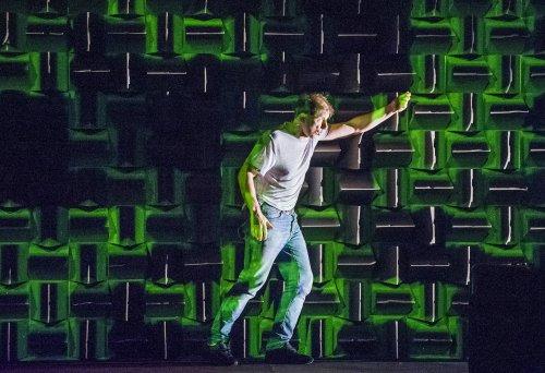 "Simon McBurney in a scene from ""The Encounter"" (Photo credit: Tristram Kenton)"