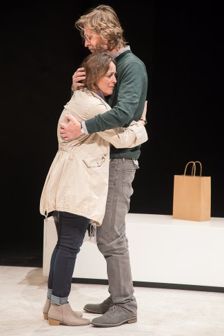 """Birgit Huppuch and Michael Laurence in """"Poison"""" (Photo credit: Lou Montesano)"""