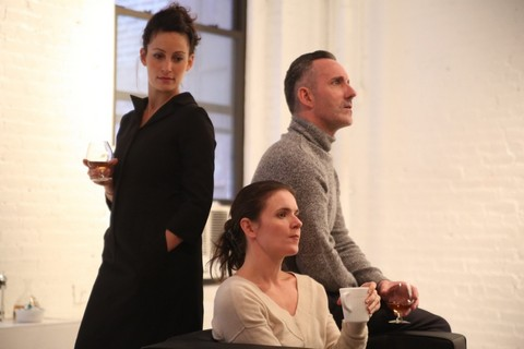 "Danielle Shimshoni, Katarina Vizina and Philip O'Gorman in a scene from ""Old Times"" (Photo credit: Gerry Goodstein)"