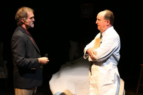 """Jeb Brown and John C. Vennema in a scene from """"Terms of Endearment"""" (Photo credit: Carol Rosegg)"""