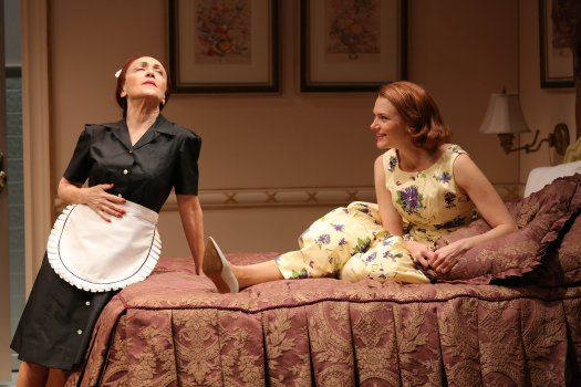 "June Gable and Holley Fain in a scene from ""This Day Forward"" (Photo credit: Carol Rosegg)"