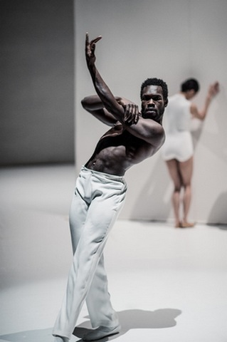 "Prince Credell in in a scene from Netherlands Dans Theater's ""Safe as Houses"" (Photo credit: Rahi Rezvani)"