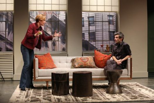 "Francesca Faridany and Michael Crane in a scene from ""This Day Forward"" (Photo credit: Carol Rosegg)"