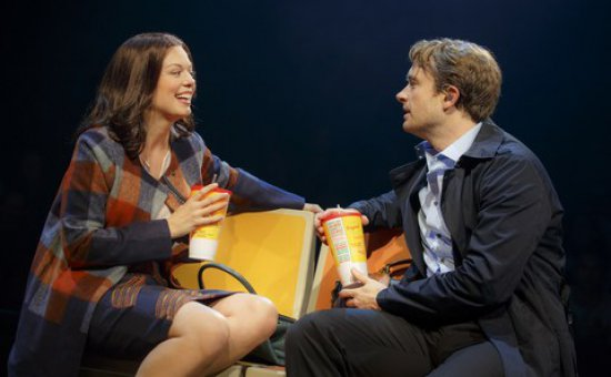 "Margo Seibert and James Snyder in a scene from of ""In Transit"" (Photo credit: Joan Marcus)"