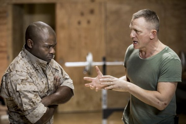 "David Oyelowo and Daniel Craig in a scene from ""Othello"" (Photo credit: Chad Batka)"