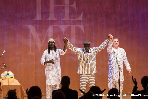 Alassane Samake, Boubacar Traore and Vincent Bucher (Photo credit: Jack Vartoogian/Front Row Photos)