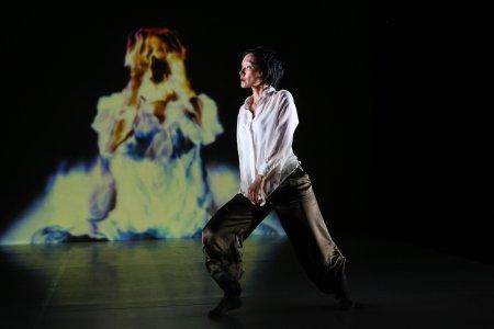 "Akiko Kitamura in a scene from ""TransSenses"" (Photo credit: Julie Lemberger)"