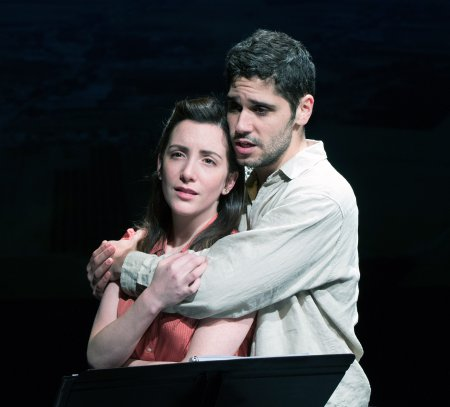 "Jessica Fontana and Perry Sherman in a scene from ""Milk and Honey"" (Photo credit: Ben Strothmann)"