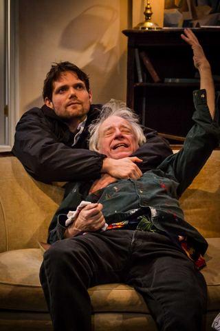 "Eric Joshua Davis and Austin Pendleton in ""Consider the Lilies"" (Photo credit: Talya Chalef)"
