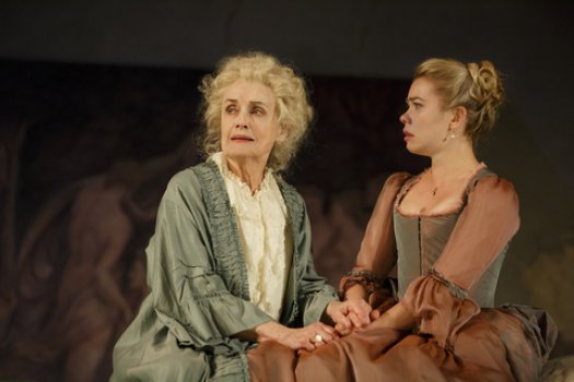 "Mary Beth Peil and Birgitte Hjort Sørensen in a scene from ""Les Liaisons Dangereuses"" (Photo credit: Joan Marcus)"