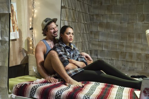 """Brandon Espinoza and Kerry Warren in a scene from """"What We Wanted"""" (Photo credit: Jacob J. Goldberg)"""
