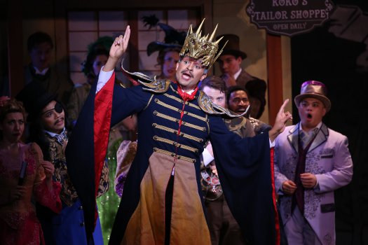 """Chris White as the Emperor of Japan in a scene from New York Gilbert & Sullivan Players' new production of """"The Mikado"""" (Photo credit: Carol Rosegg)"""