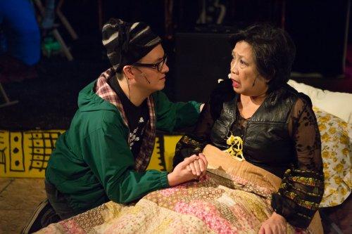 "Matt Park and Mia Katigbak in a scene from ""PEER GYNT & the Norwegian Hapa Band (Photo credit: Hunter Canning)"