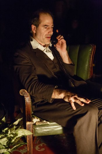 "Geoff Sobelle in a scene from ""The Object Lesson"" at New York Theatre Workshop (Photo credit: Joan Marcus)"