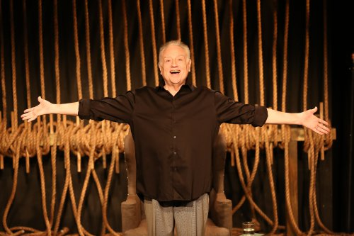 """Ed Dixon in a scene from """"Georgie: My Adventures with George Rose"""" (Photo credit: Carol Rosegg)"""