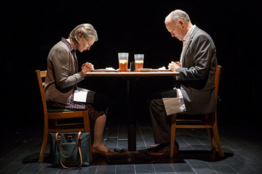 """Annette O'Toole and Reed Birney in a scene from """"Man from Nebraska"""" (Photo credit: Joan Marcus)"""