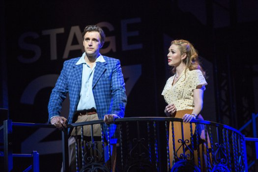 """Michael Xavier as Joe Gillis and Siobhan Dillon as Betty Schaeffer in a scene from revival of """"Sunset Boulevard"""" (Photo credit: Joan Marcus)"""
