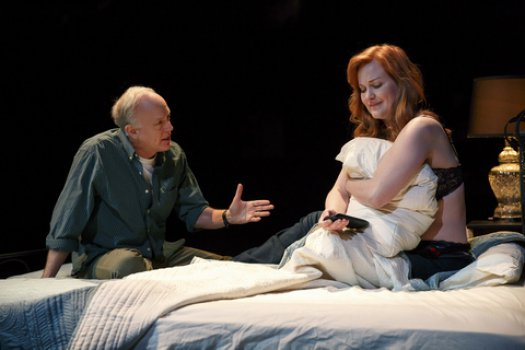 """Reed Birney and Heidi Armbruster in a scene from """"Man from Nebraska"""" (Photo credit: Joan Marcus)"""
