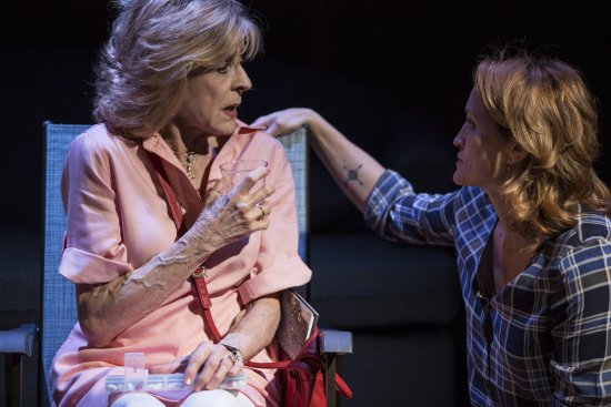 "Concetta Tomei and Angela Reed in a scene from ""The Mother of Invention"" (Photo credit: Maria Baranova)"