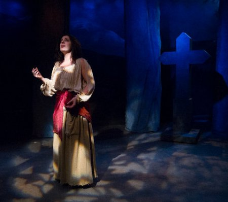 "Regina Gibson in the title role of ""Leah, the Forsaken"" (Photo credit: Alex Trimetiere)"
