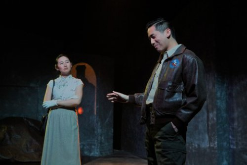 """Ying Ying Li and Tim Liu in a scene from """"Incident at the Hidden Temple"""" (Photo credit: John Quincy)"""